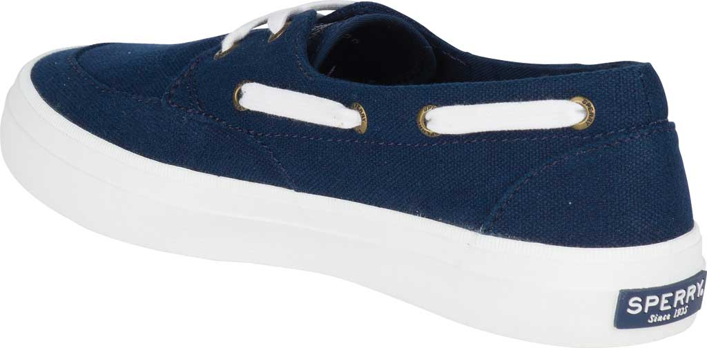 Women's Sperry Top-Sider Crest Boat Shoe, Navy Canvas, large, image 4
