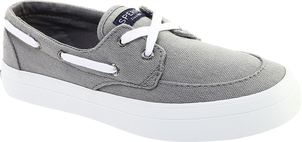 Women's Sperry Top-Sider Crest Boat Shoe, Grey Canvas, large, image 1