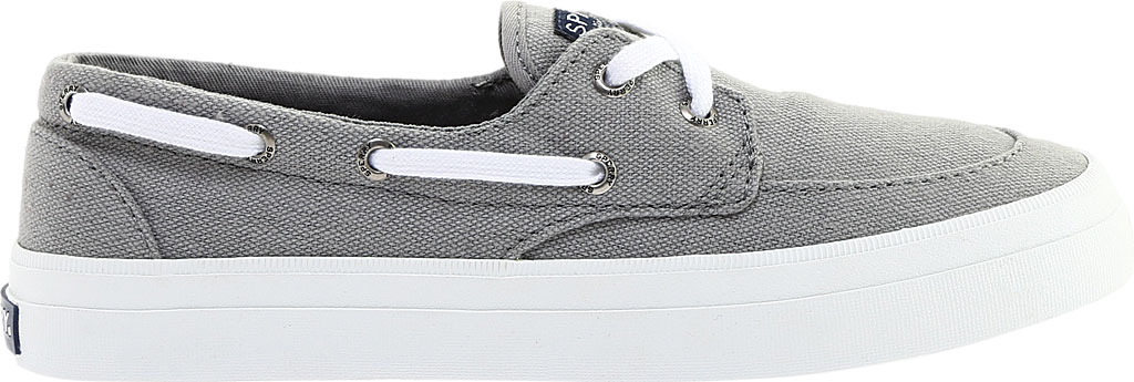 Women's Sperry Top-Sider Crest Boat Shoe, Grey Canvas, large, image 2