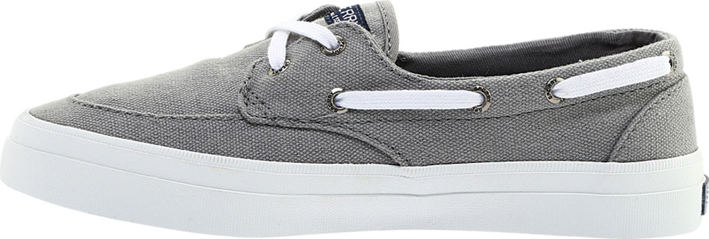 Women's Sperry Top-Sider Crest Boat Shoe, Grey Canvas, large, image 3