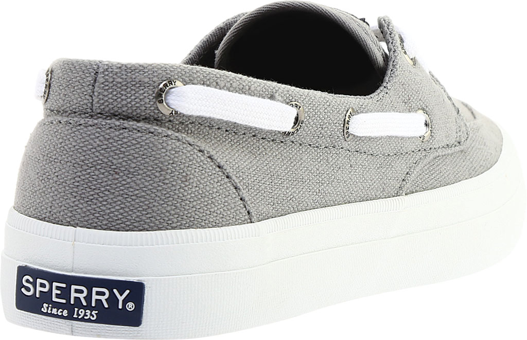 Women's Sperry Top-Sider Crest Boat Shoe, Grey Canvas, large, image 4