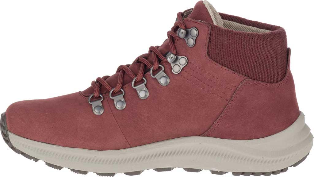 Women's Merrell Ontario Mid Waterproof Hiker Boot, Raisin Full Grain Leather, large, image 3