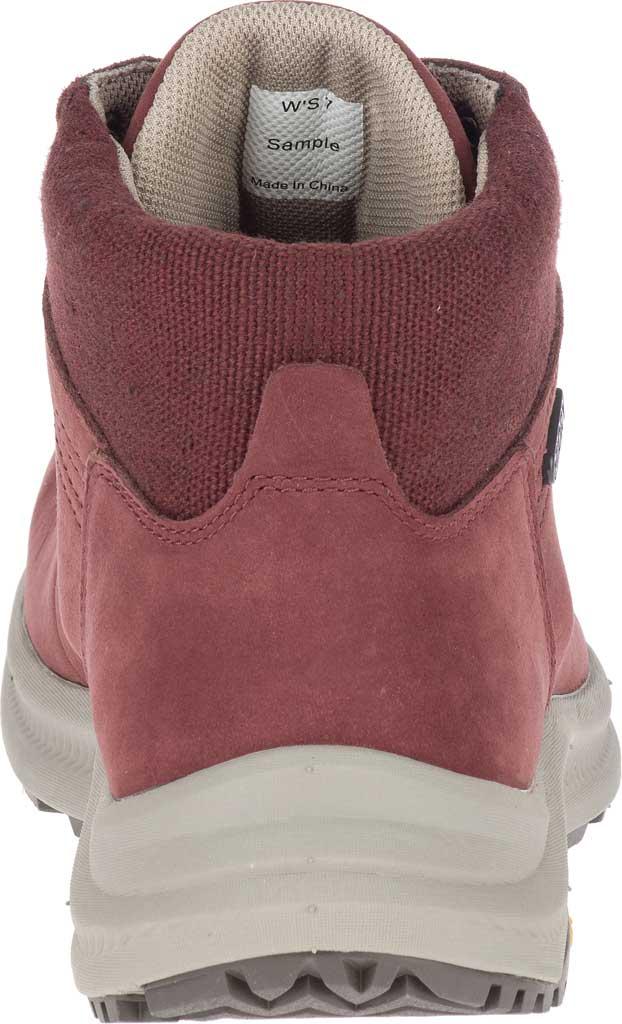 Women's Merrell Ontario Mid Waterproof Hiker Boot, Raisin Full Grain Leather, large, image 4