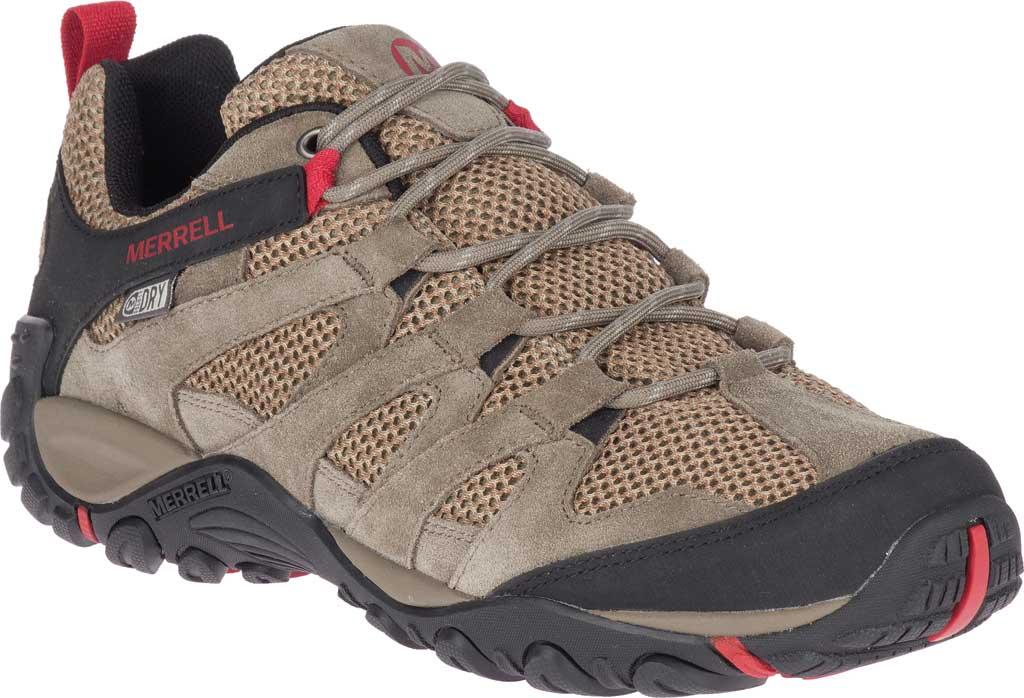 Men's Merrell Alverstone Waterproof Hiker Boot, Boulder Suede/Mesh, large, image 1