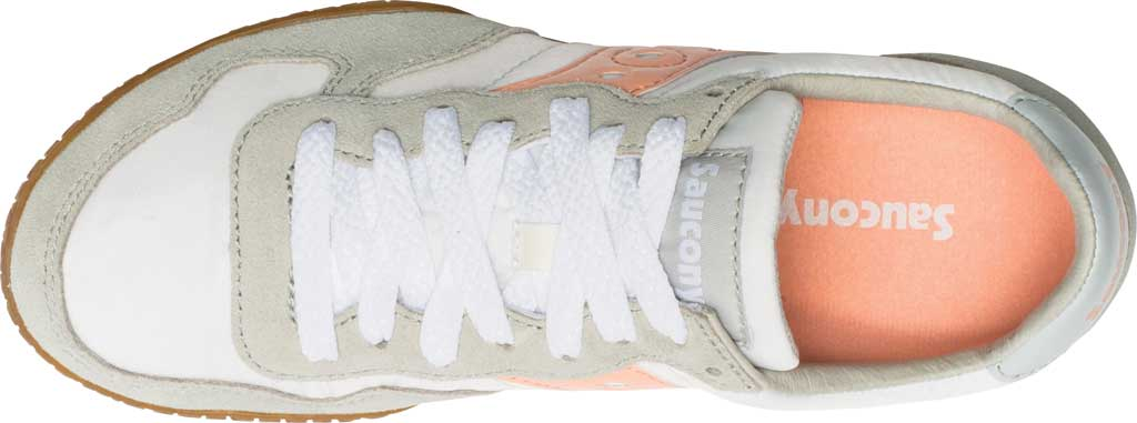 Women's Saucony Originals Bullet Lace Up Sneaker, White/Pink/Gum, large, image 4