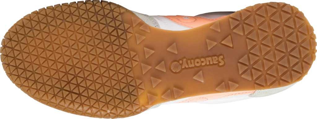 Women's Saucony Originals Bullet Lace Up Sneaker, White/Pink/Gum, large, image 5