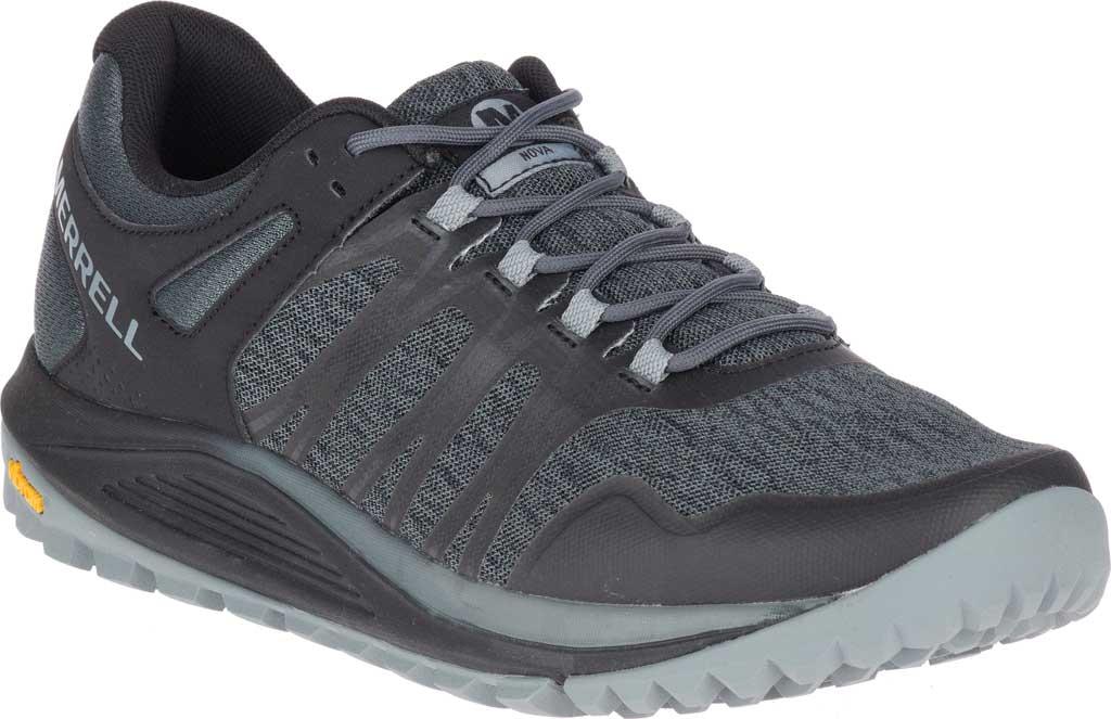Men's Merrell Nova Trail Shoe, Black Textile/TPU, large, image 1
