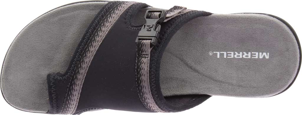 Women's Merrell District Muri Wrap Toe Loop Sandal, Black/Charcoal Textile/Lycra/Neoprene, large, image 5