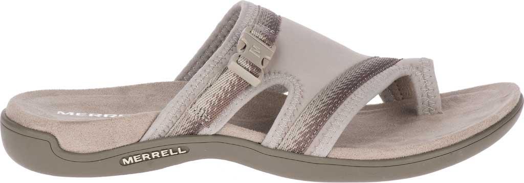 Women's Merrell District Muri Wrap Toe Loop Sandal, Moon Textile/Lycra/Neoprene, large, image 2