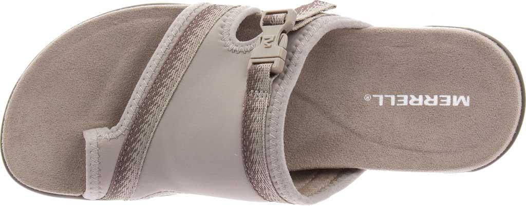 Women's Merrell District Muri Wrap Toe Loop Sandal, Moon Textile/Lycra/Neoprene, large, image 5
