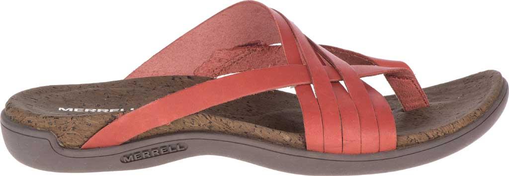 Women's Merrell District Mahana Post Thong Sandal, Redwood Full Grain Leather, large, image 2