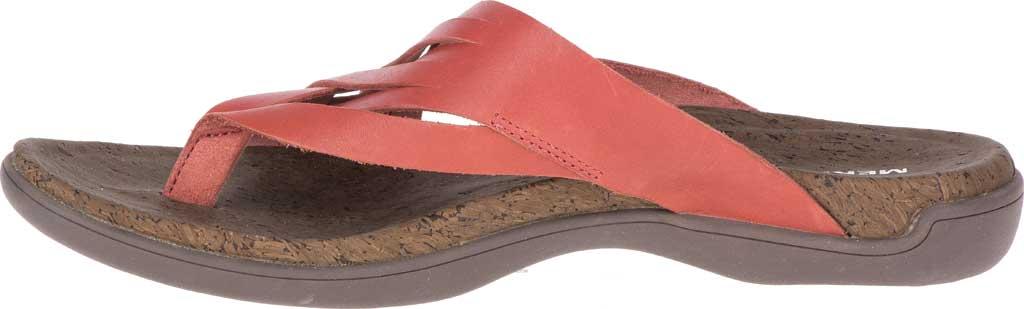 Women's Merrell District Mahana Post Thong Sandal, Redwood Full Grain Leather, large, image 3
