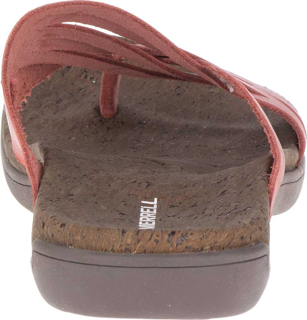 Women's Merrell District Mahana Post Thong Sandal, Redwood Full Grain Leather, large, image 4