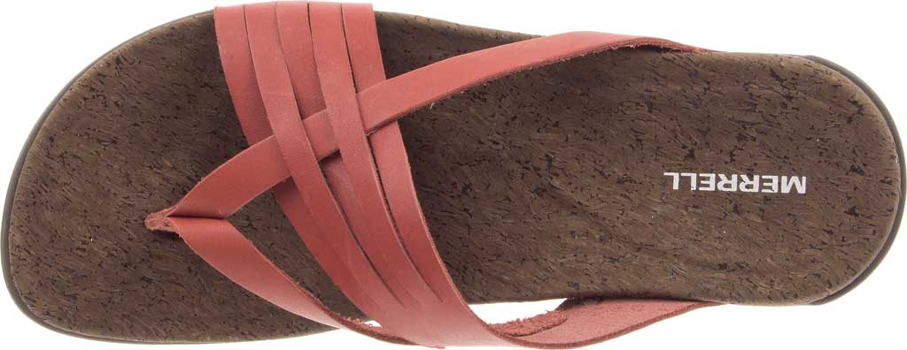 Women's Merrell District Mahana Post Thong Sandal, Redwood Full Grain Leather, large, image 5