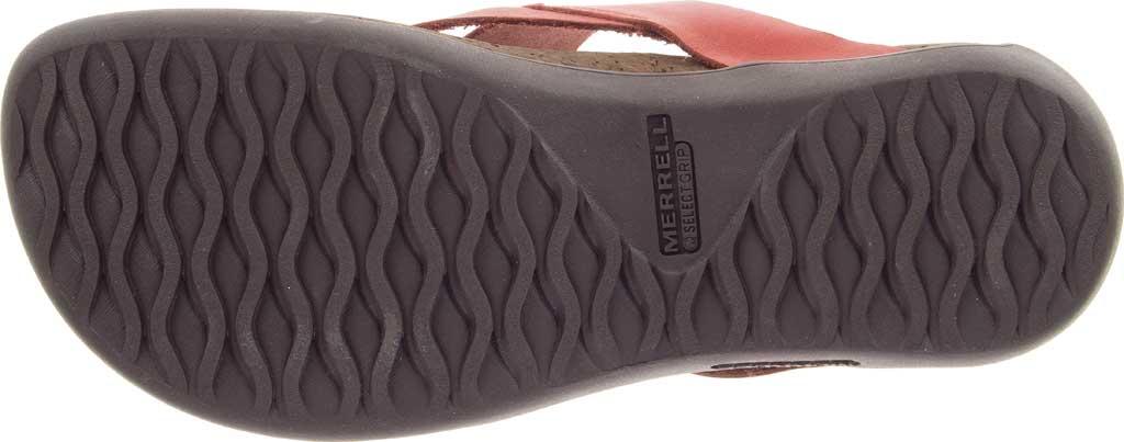 Women's Merrell District Mahana Post Thong Sandal, Redwood Full Grain Leather, large, image 6