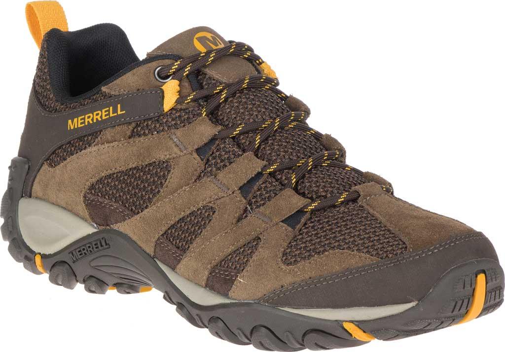 Men's Merrell Alverstone Hiking Boot, Merrell Stone Suede/Mesh, large, image 1