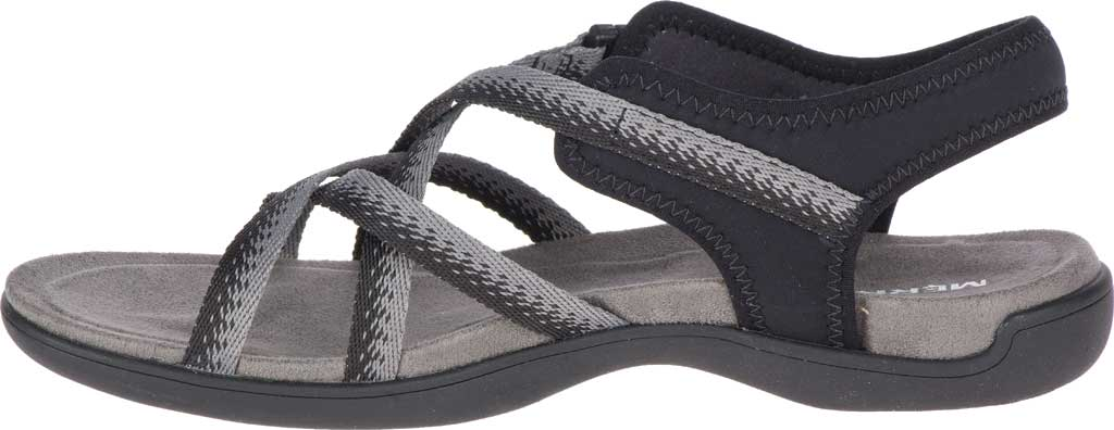 Women's Merrell District Muri Lattice Strappy Sandal, Black/Charcoal Textile/Neoprene, large, image 3