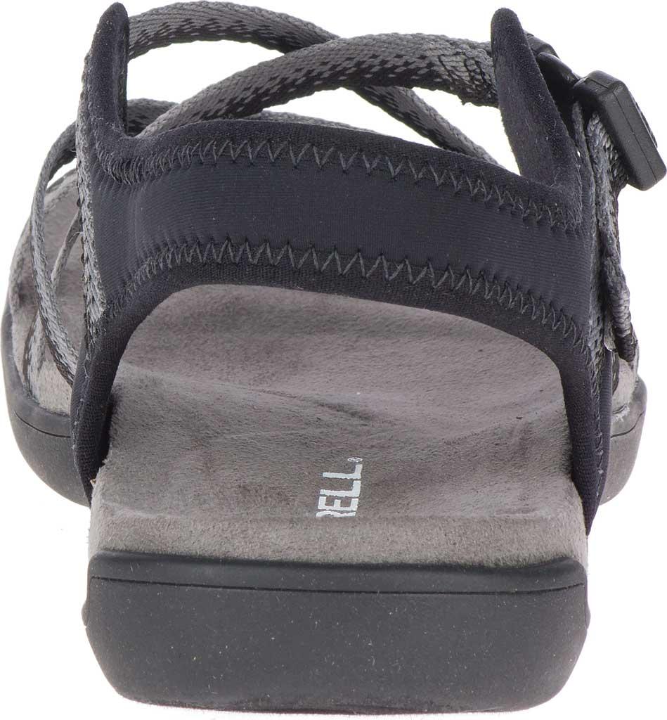 Women's Merrell District Muri Lattice Strappy Sandal, Black/Charcoal Textile/Neoprene, large, image 4