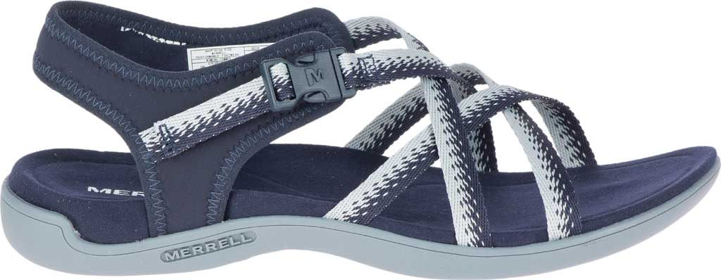 Women's Merrell District Muri Lattice Strappy Sandal, Navy/Grey Textile/Neoprene, large, image 2