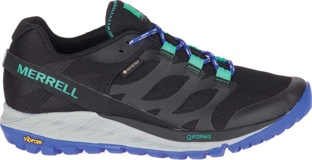 Women's Merrell Antora GORE-TEX Trail Shoe, Black/Dazzle Textile/TPU, large, image 2