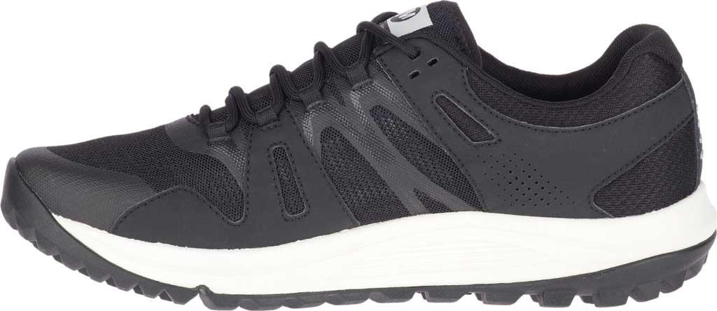 Men's Merrell Nova GORE-TEX Trail Shoe, Black/Black Textile/TPU, large, image 2