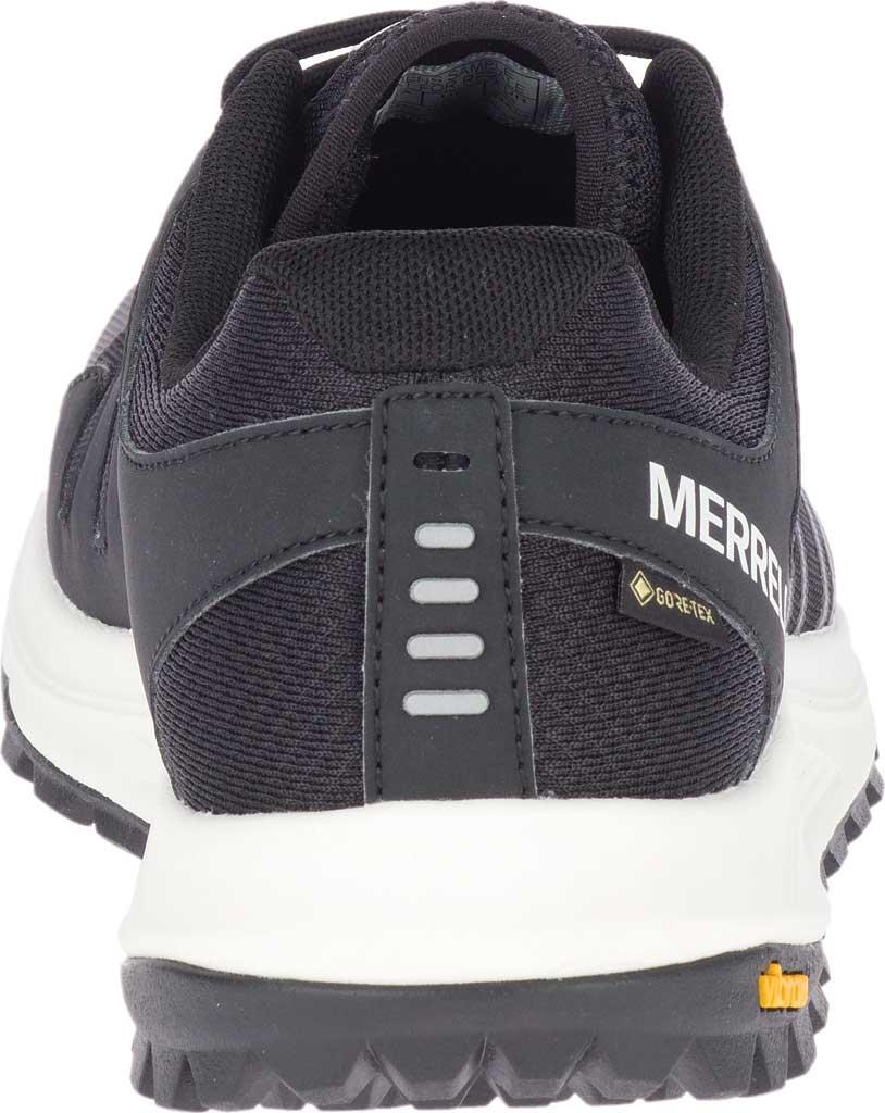 Men's Merrell Nova GORE-TEX Trail Shoe, Black/Black Textile/TPU, large, image 3