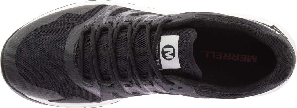 Men's Merrell Nova GORE-TEX Trail Shoe, Black/Black Textile/TPU, large, image 4