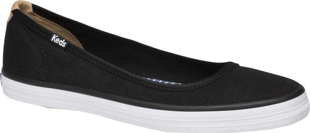 Women's Keds Bryn Twill Slip On Sneaker, Black Twill, large, image 1