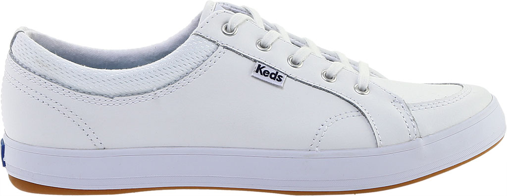 Women's Keds Center Leather Sneaker, White Leather, large, image 2