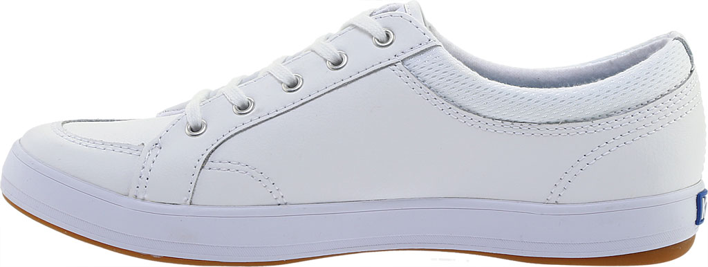 Women's Keds Center Leather Sneaker, White Leather, large, image 3
