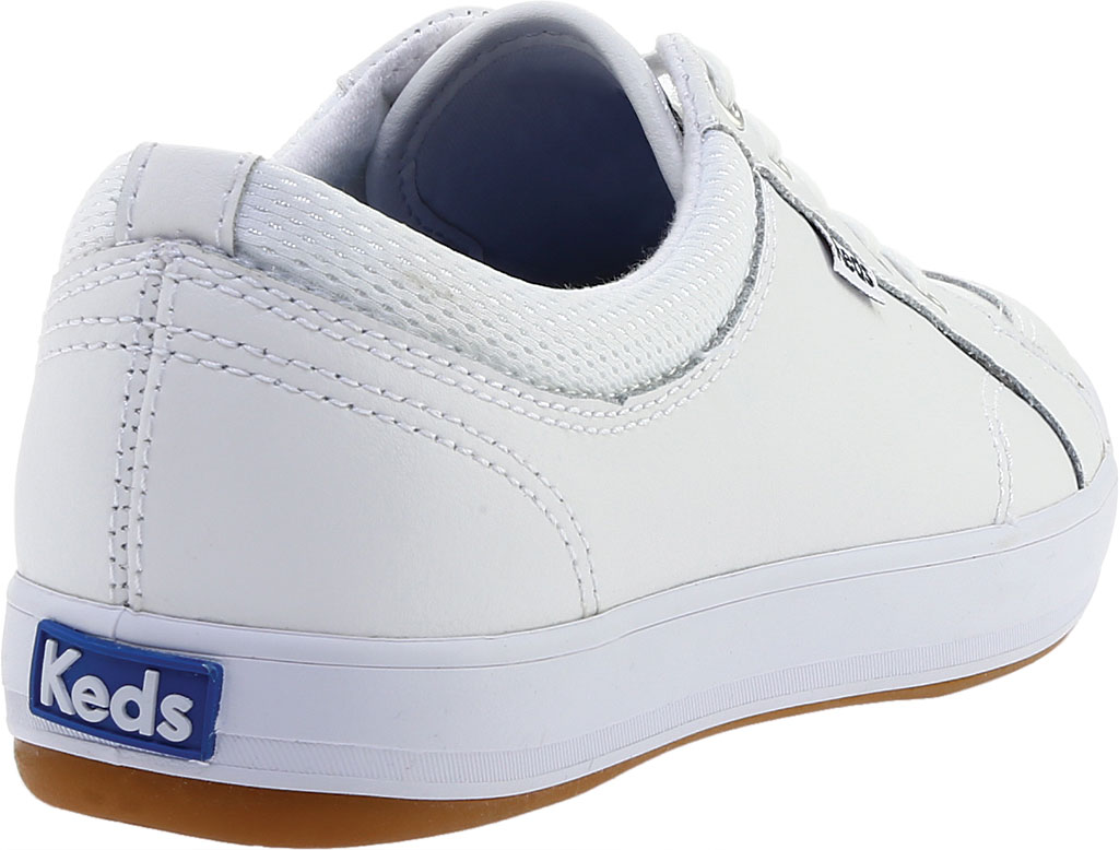 Women's Keds Center Leather Sneaker, White Leather, large, image 4