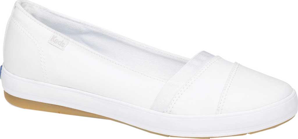 Women's Keds Carmel Twill Slip On, White Twill, large, image 1