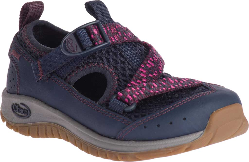 Children's Chaco Odyssey Vegan Sport Sandal, Purple Mesh, large, image 1