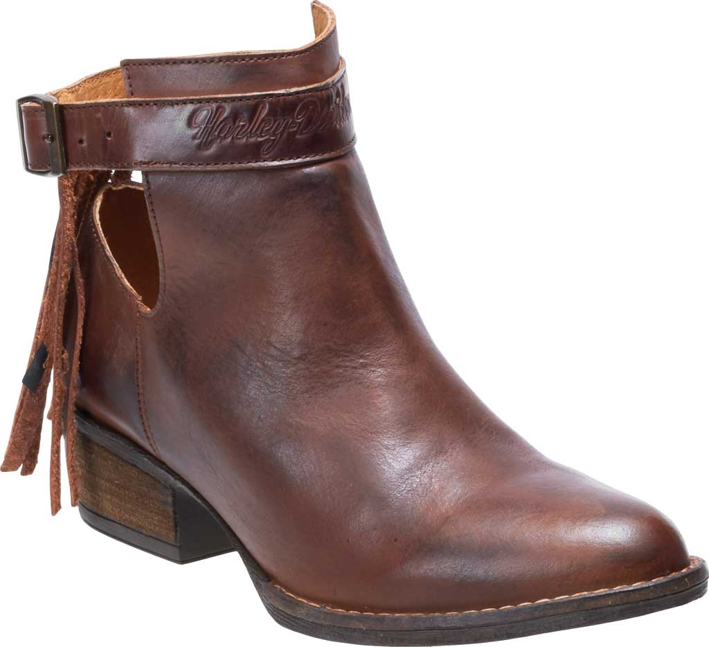 Women's Harley-Davidson Amory Ankle Bootie, Brown Full Grain Leather, large, image 1