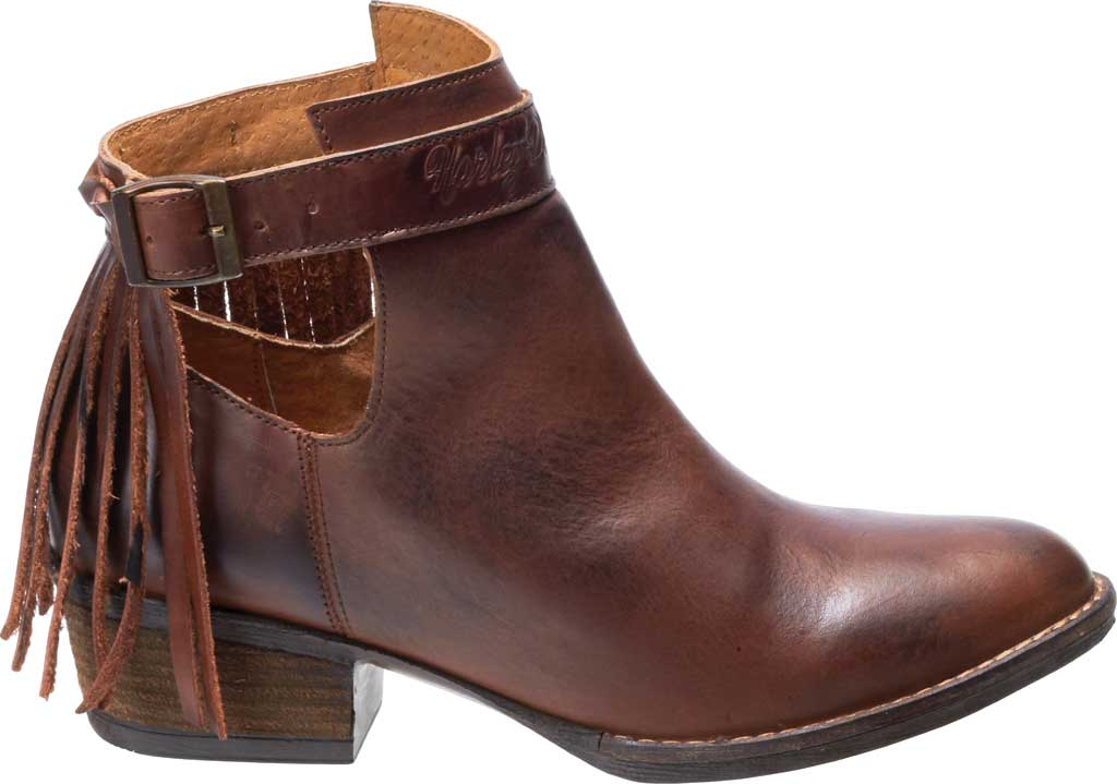 Women's Harley-Davidson Amory Ankle Bootie, Brown Full Grain Leather, large, image 2