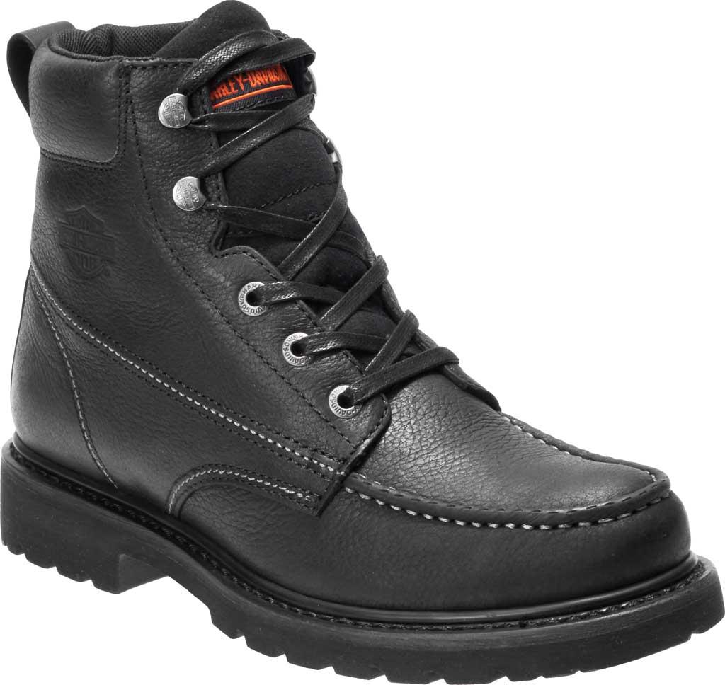 Men's Harley-Davidson Markston Motorcycle Boot, Black Full Grain Leather, large, image 1