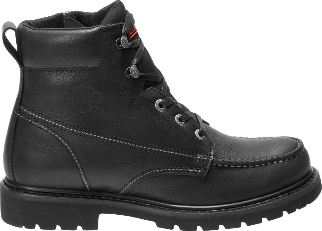 Men's Harley-Davidson Markston Motorcycle Boot, Black Full Grain Leather, large, image 2