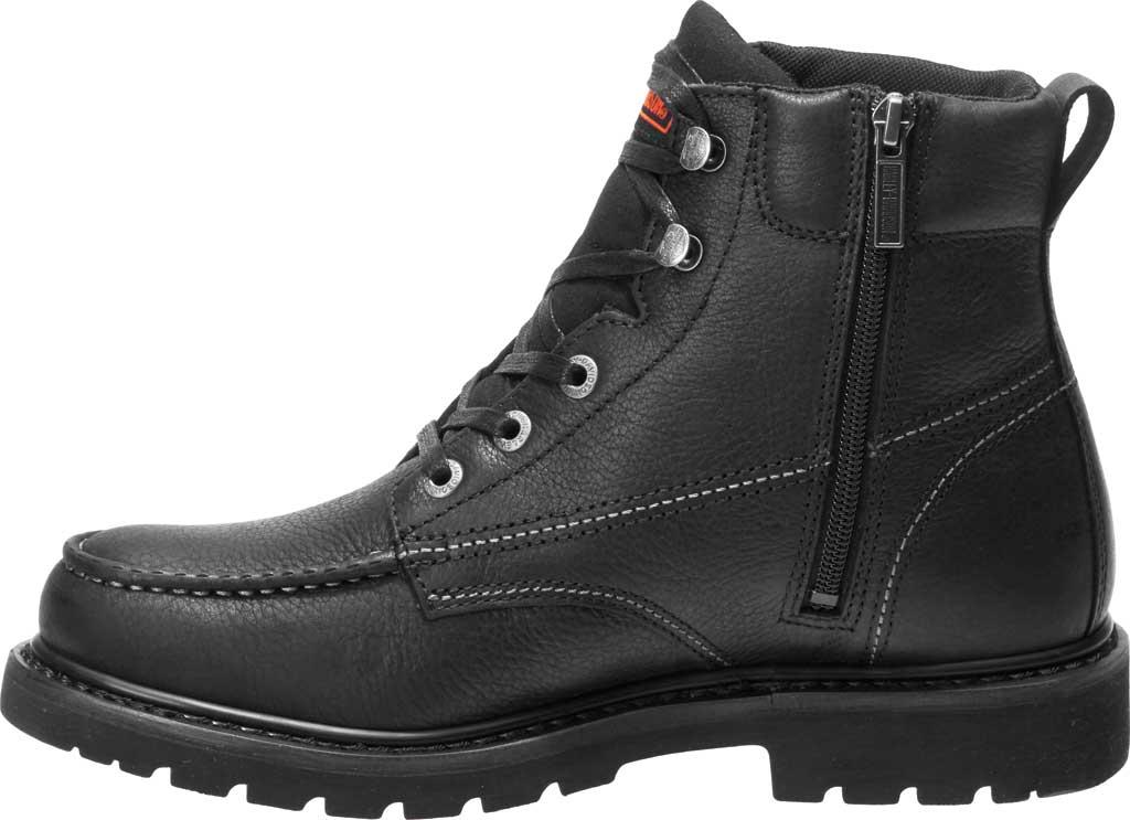 Men's Harley-Davidson Markston Motorcycle Boot, Black Full Grain Leather, large, image 3