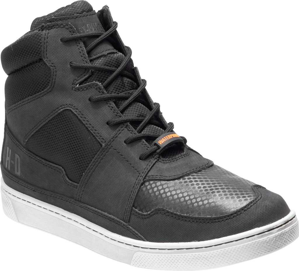 Men's Harley-Davidson Eagleson Motorcycle Shoe, Black Full Grain Leather/Mesh, large, image 1