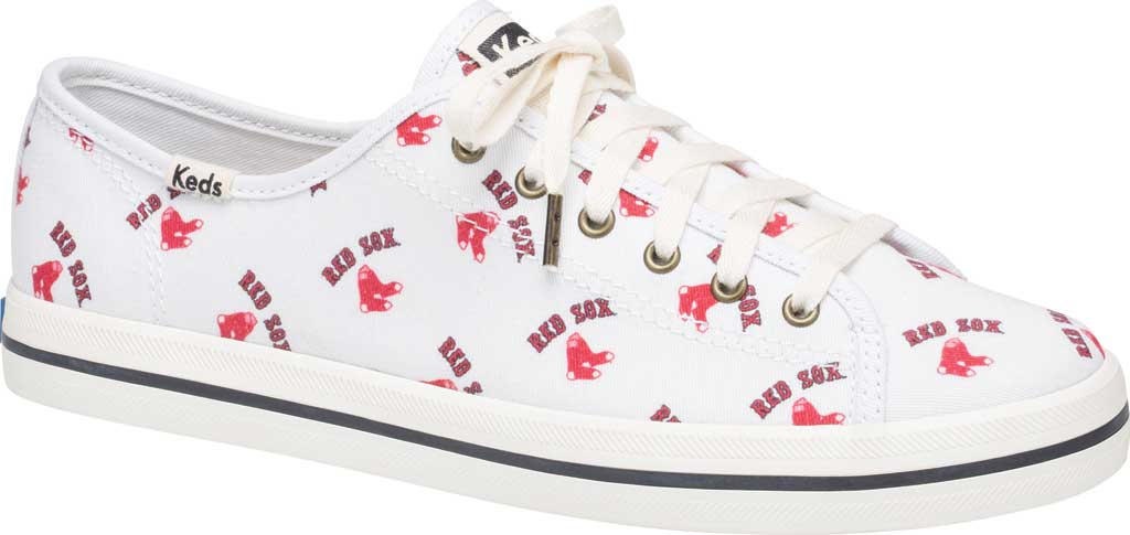 Women's Keds Kickstart MLB Sneaker, Red Sox Canvas, large, image 1