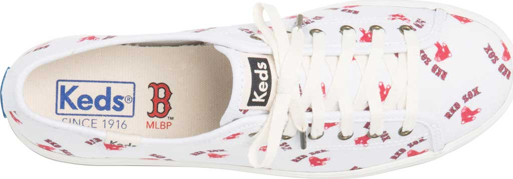 Women's Keds Kickstart MLB Sneaker, Red Sox Canvas, large, image 4