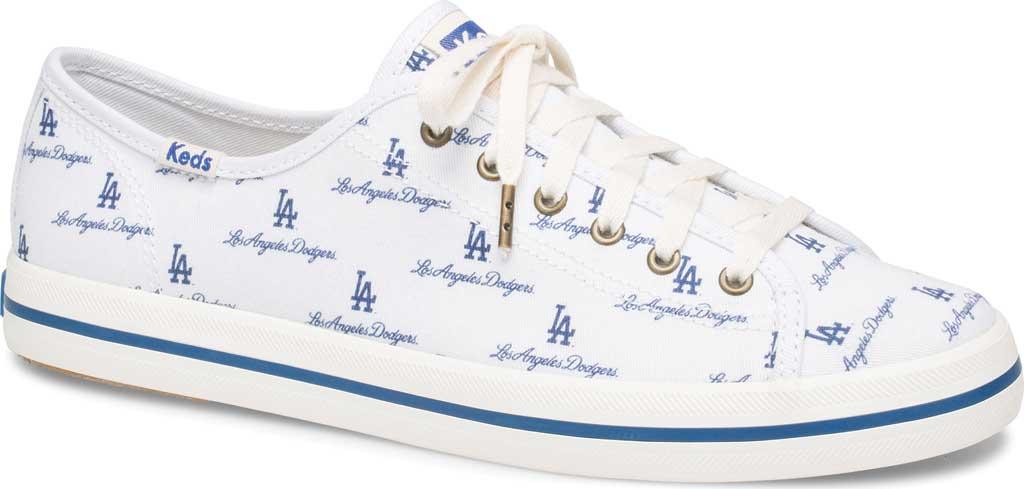 Women's Keds Kickstart MLB Sneaker, Dodgers Canvas, large, image 1