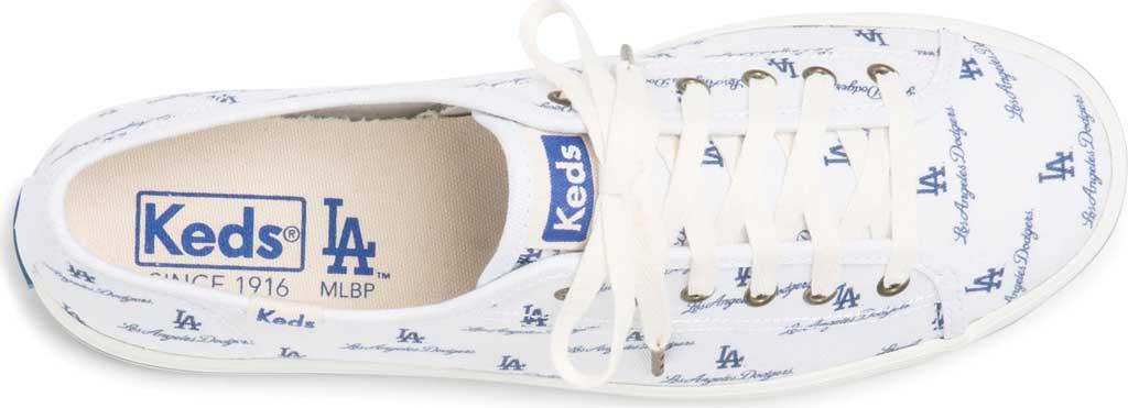 Women's Keds Kickstart MLB Sneaker, Dodgers Canvas, large, image 4