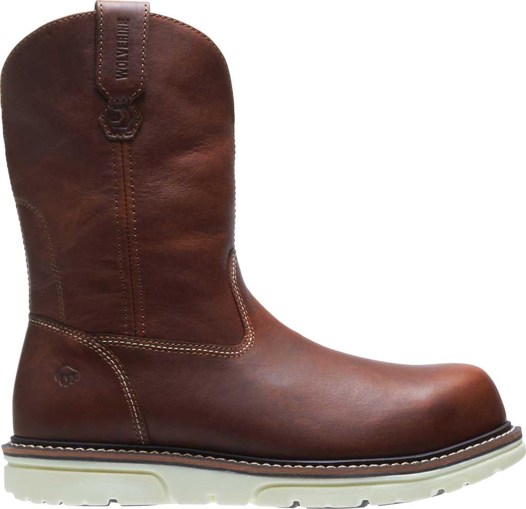 Men's Wolverine I-90 DuraShocks Wedge Wellington Comp Toe Boot, Brown Full-Grain Leather, large, image 2