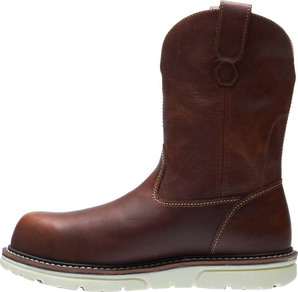 Men's Wolverine I-90 DuraShocks Wedge Wellington Comp Toe Boot, Brown Full-Grain Leather, large, image 3