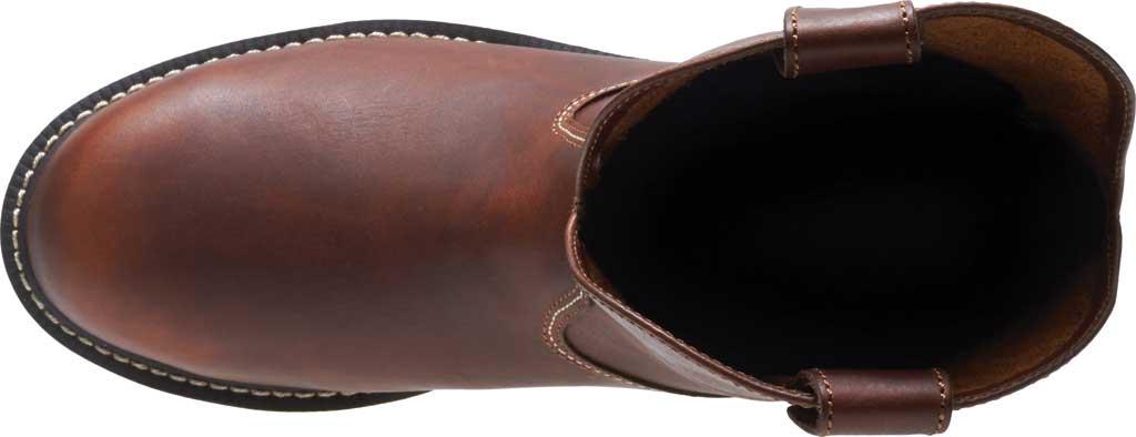 Men's Wolverine I-90 DuraShocks Wedge Wellington Comp Toe Boot, Brown Full-Grain Leather, large, image 5