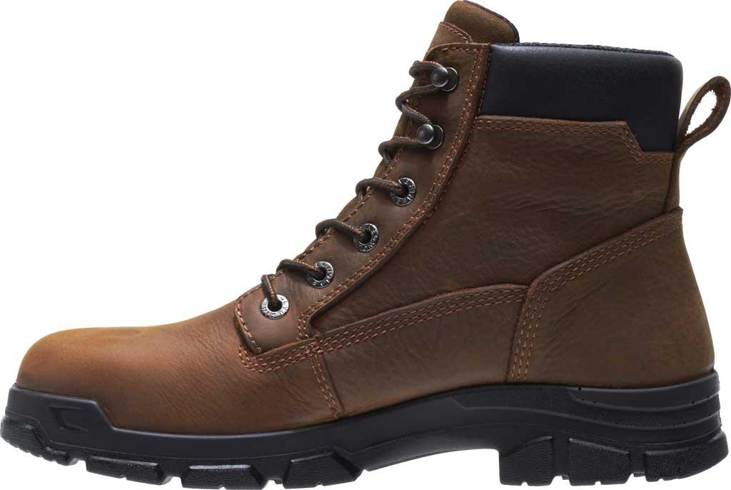 Men's Wolverine Chainhand Waterproof Steel Toe Work Boot, Brown Full Grain Leather, large, image 3