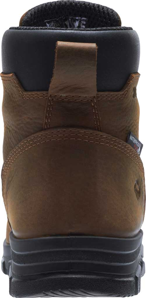 Men's Wolverine Chainhand Waterproof Steel Toe Work Boot, Brown Full Grain Leather, large, image 4