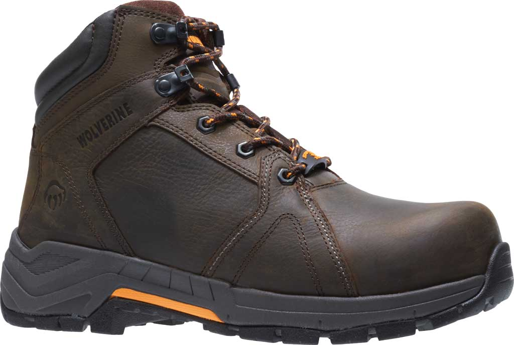 Men's Wolverine Contractor LX EPX Composite Toe Work Boot, Brown Waterproof Full Grain Leather, large, image 2