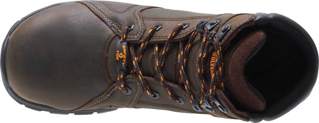 Men's Wolverine Contractor LX EPX Composite Toe Work Boot, Brown Waterproof Full Grain Leather, large, image 5